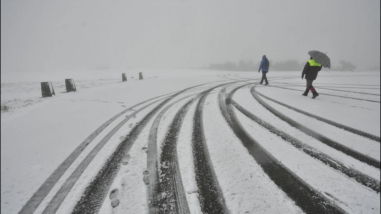 Los efectos del vórtice polar sobre Estados Unidos.Nieve en Rodeiro