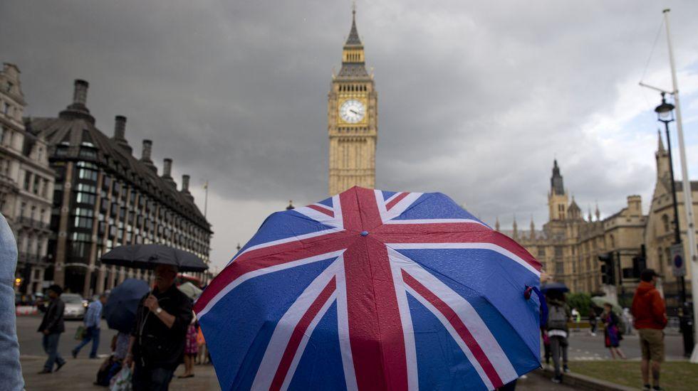 Manifestación en Londres contra el «brexit».Donald Tusk
