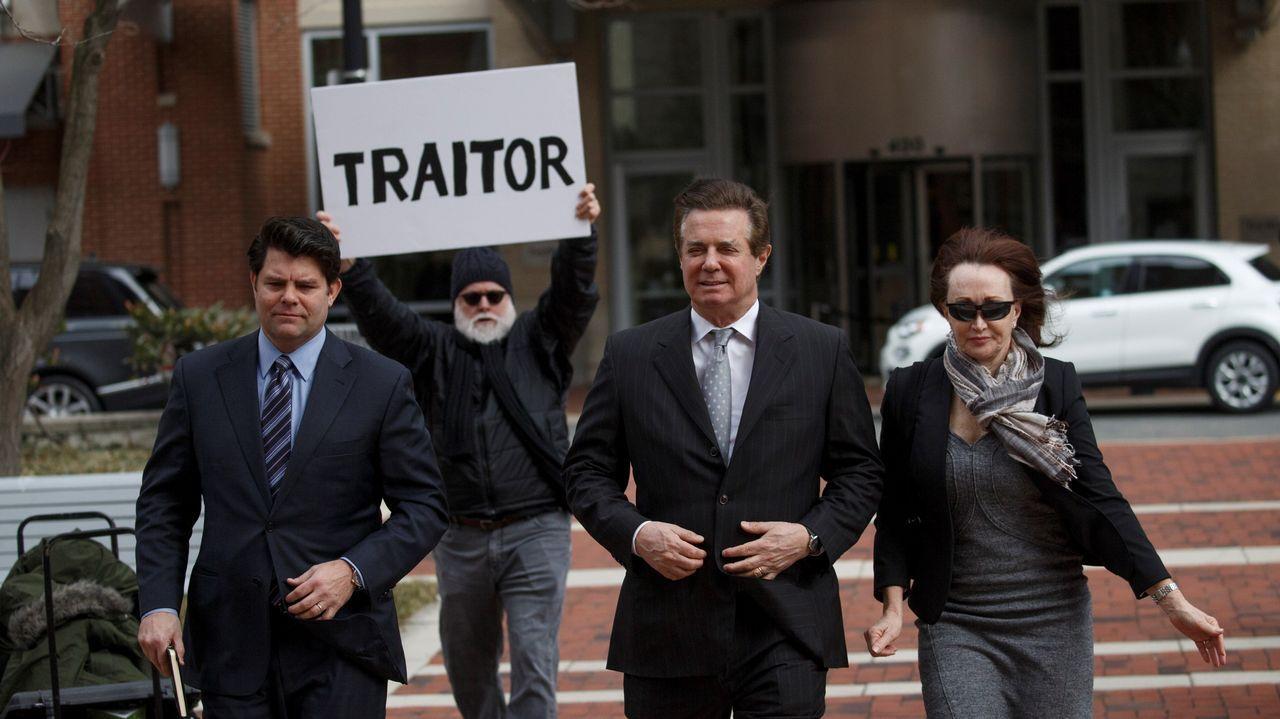 .Manafort, a su llegada el pasado 8 de marzo al tribunal federal de Alexandria, en Virginia