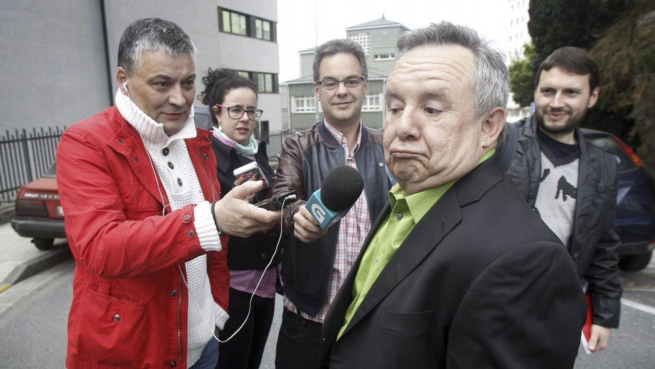 El marchante de Parga, José Carlos Bergantiños, en una de sus visitas a los juzgados de Lugo