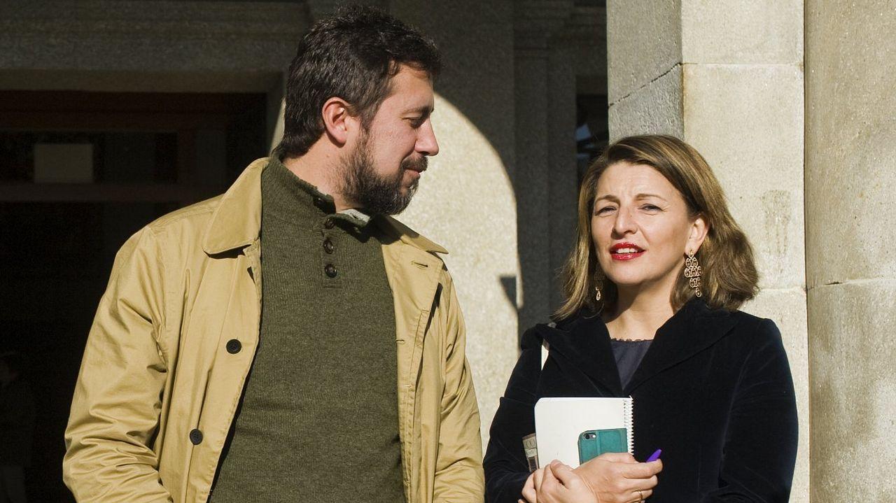 Sánchez arranca desde la Moncloa la campaña para las elecciones del 28 de abril.Alexandra Fernández, de volta en Vigo tras votar non aos Presupostos o mércores