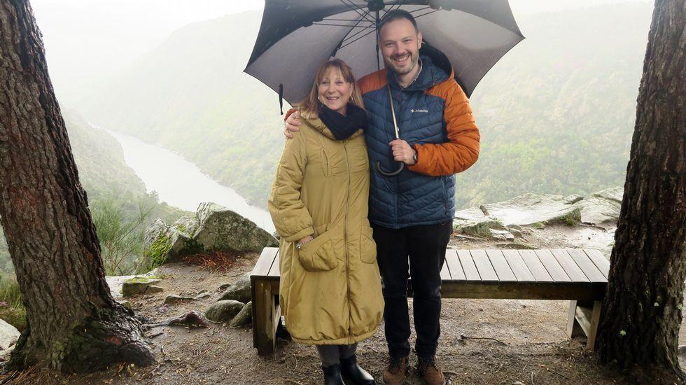 Mercedes Marcos y José Manuel Blanco, este sábado en su visita al cañón del Sil