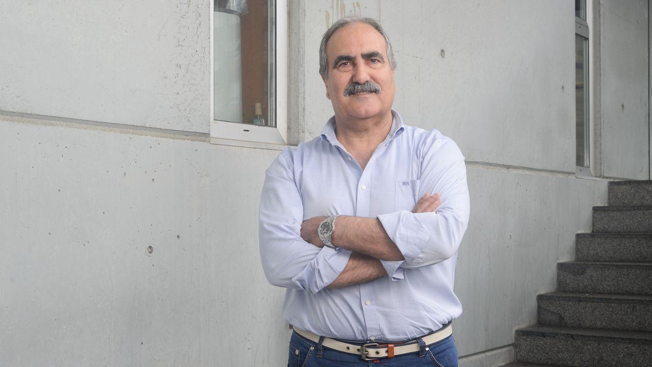 Antonio Martínez, mayor de la Armada retirado, en una imagen tomada en el campus