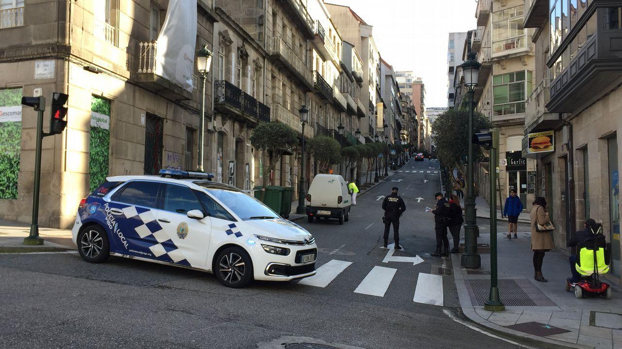 Calle Cervantes cortada.