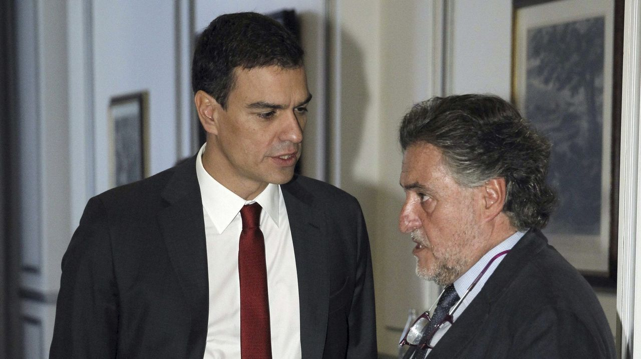 Pedro Sánchez y Pepu Hernández, en una imagen del 2014