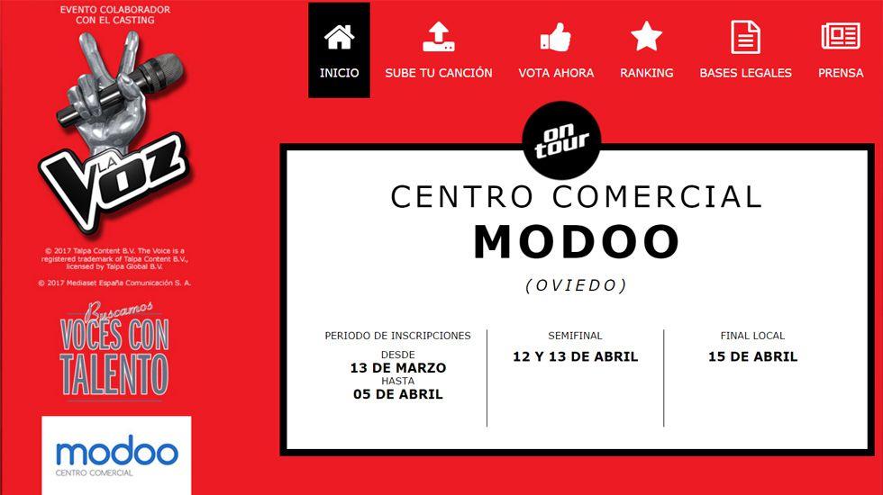 El concurso «Gana con tu voz» en el centro Modoo.El concurso «Gana con tu voz» en el centro Modoo