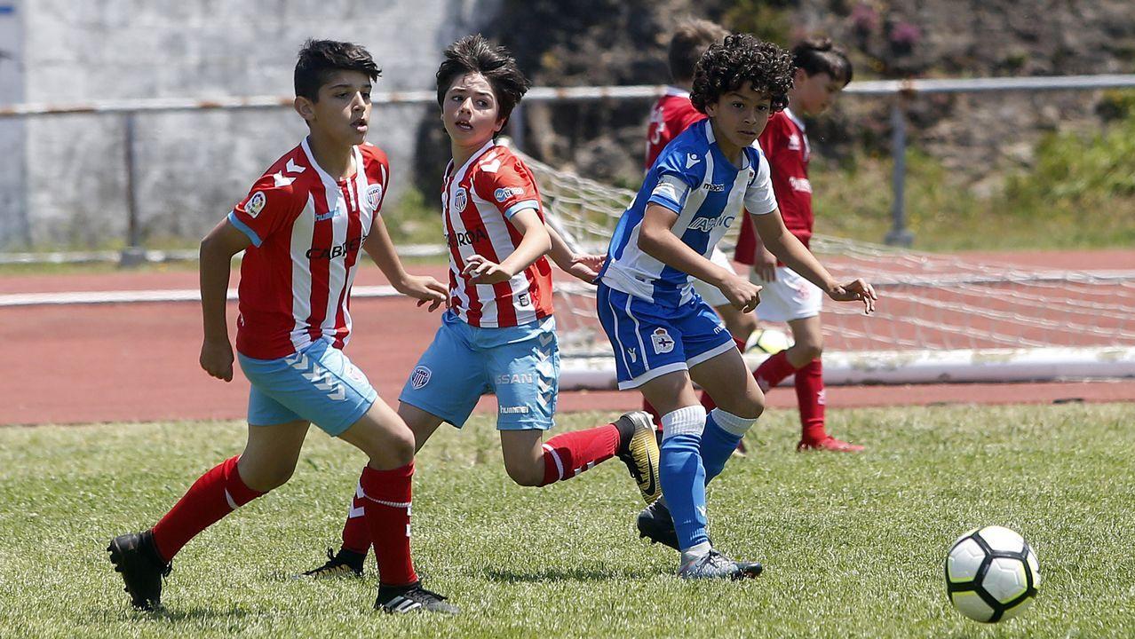 Gol Edu Cortina Vetusta Gimnastica Torrelavega.Los futbolistas azules celebran el gol de Edu Cortina ante la Gimnástica de Torrelavega