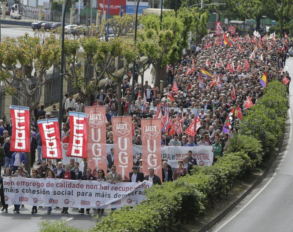 Manifestación del último Primero de Mayo.