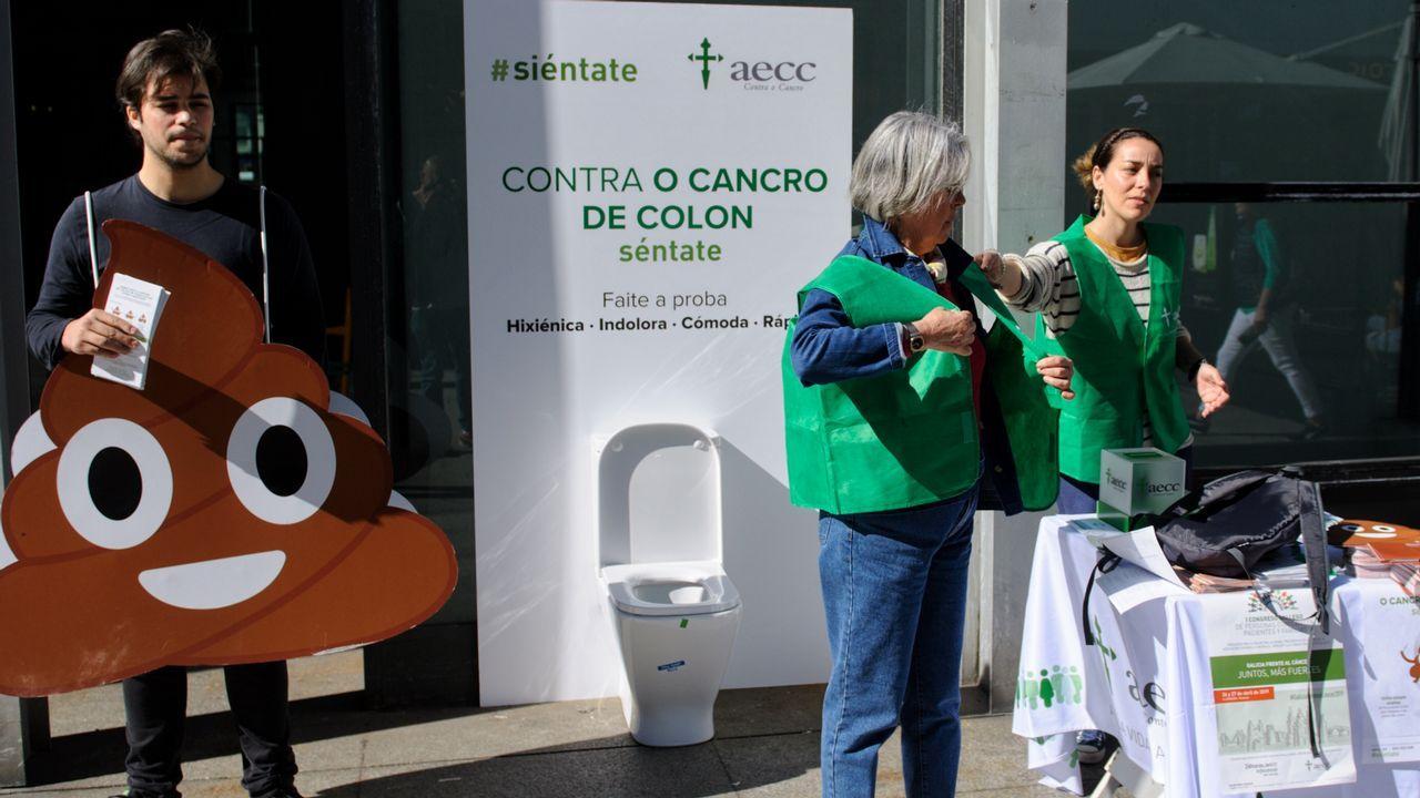 A Mariñase manifiesta por una sanidad digna.Pedro Alonso Aguirre