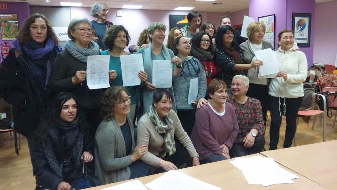 Colectivos feministas asturianos presentan el manifiesto contra Vox
