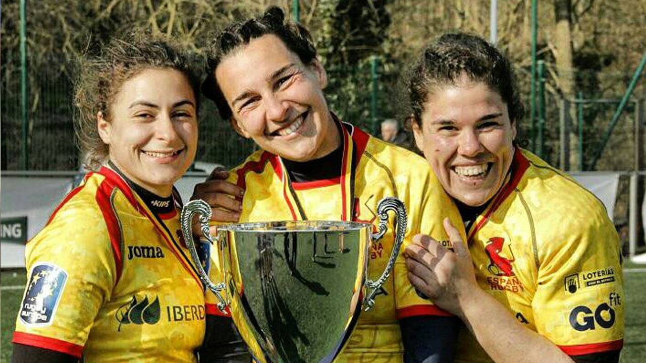 El Crat.Mónica Castelo, jugadora del CRAT y campeona de Europa de rugbi
