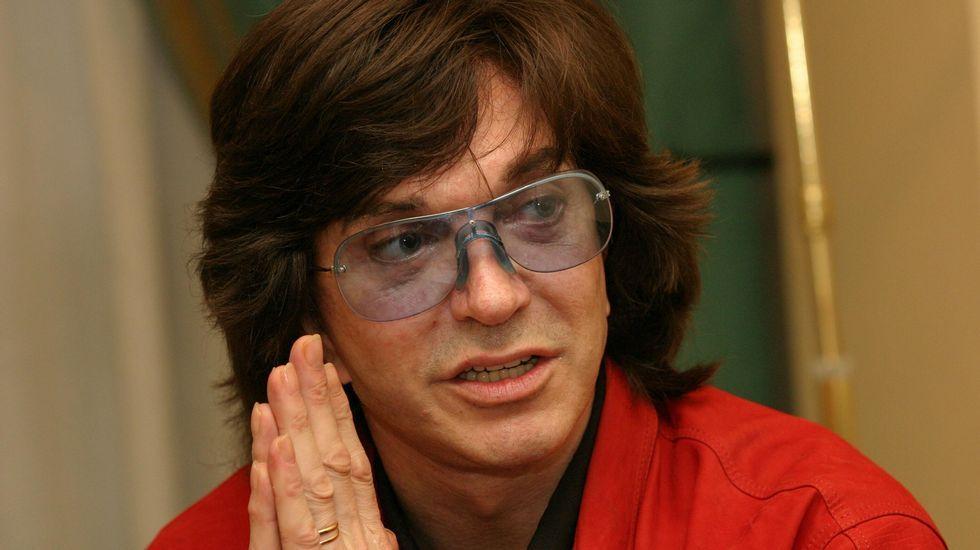 Camilo Sesto, durante una entrevista en Santiago.