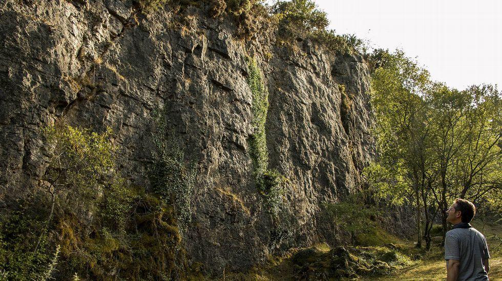 Otro aspecto de la antigua cantera de Buxán