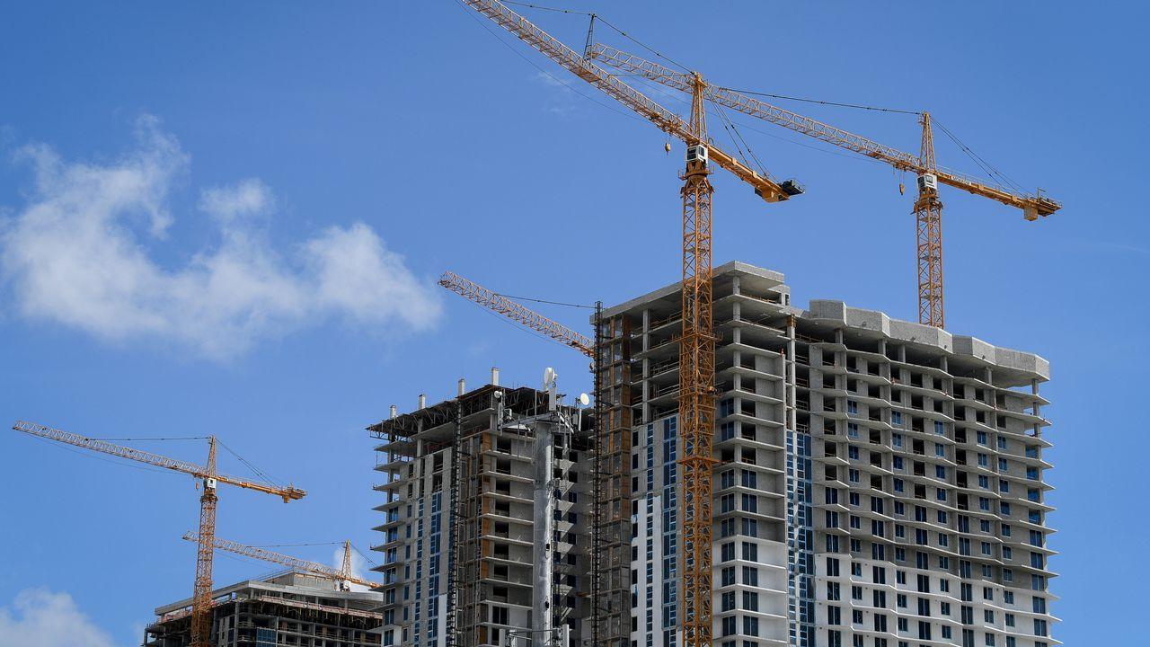 Torres de construcción en Miami.