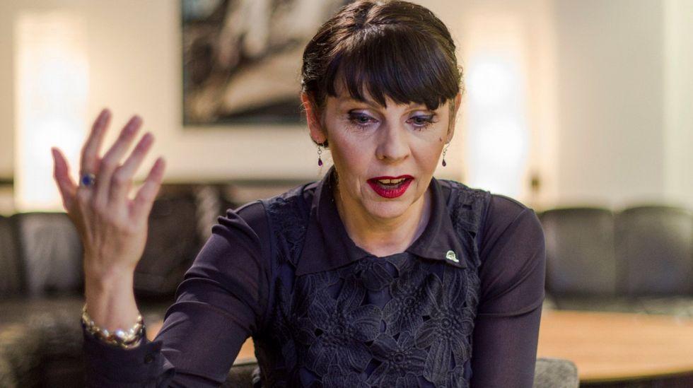 La líder del Partido Pirata, Brigitta Jonsdottir.