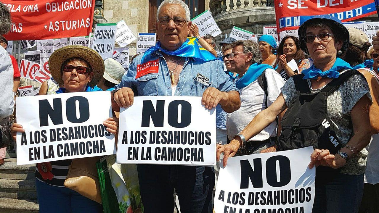 En una manifestación de pensionistas, en Madrid