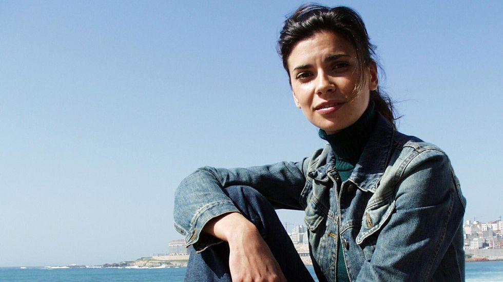«Cuéntame cómo pasó» cumple 14 años.Pilar Punzano, durante la grabación de una película en A Coruña.