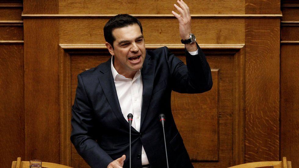 .Tsipras, en el Parlamento