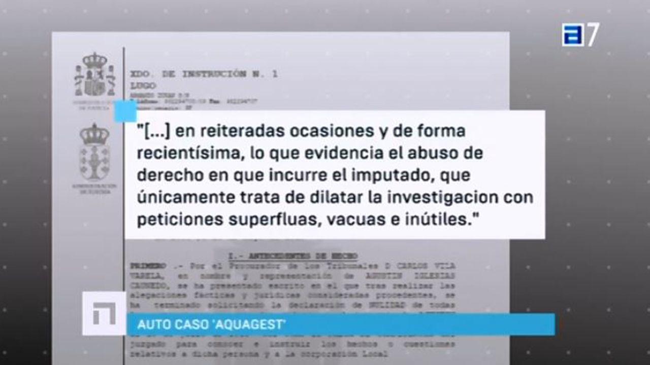 .Auto de la jueza Pilar de Lara en la que acusa a Caundeo de dilatar la investigación