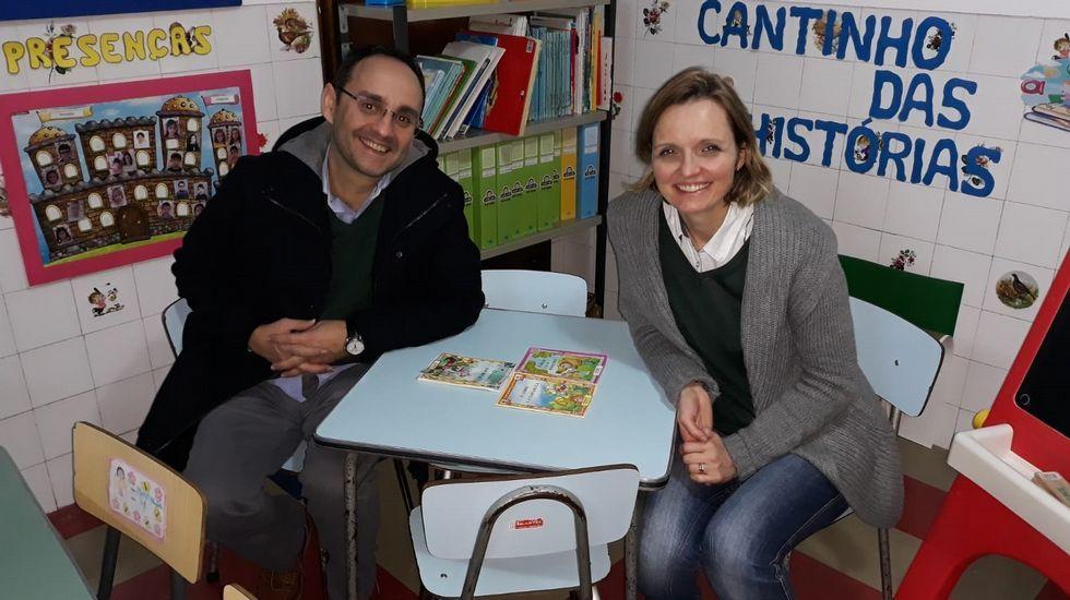 Óscar Iglesias y su mujer, la portuguesa Ana Isabel Pereira, ambos profesores de secundaria.