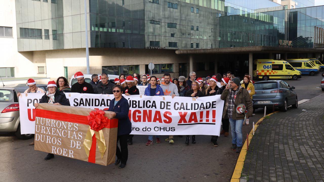 Villancico de protesta del personal de Urxencias del CHUS