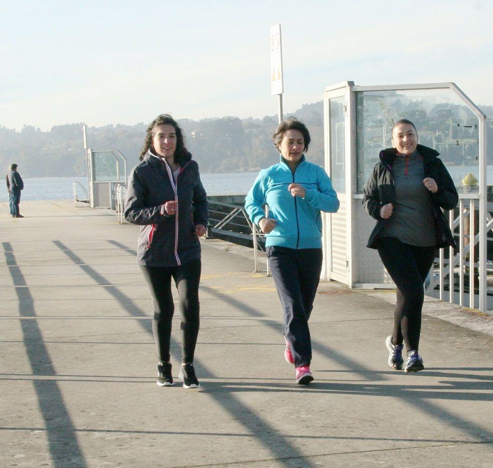 En Miño, Rocío, Lucía y Teresa se conocieron corriendo por el puerto