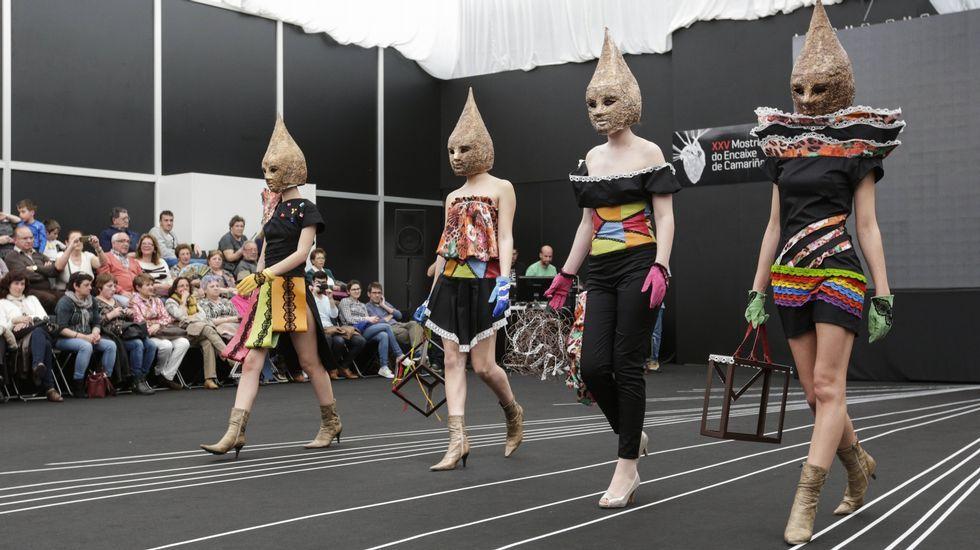 Momento del pase del viernes en el desfile de jóvenes diseñadores de la pasarela camariñana.