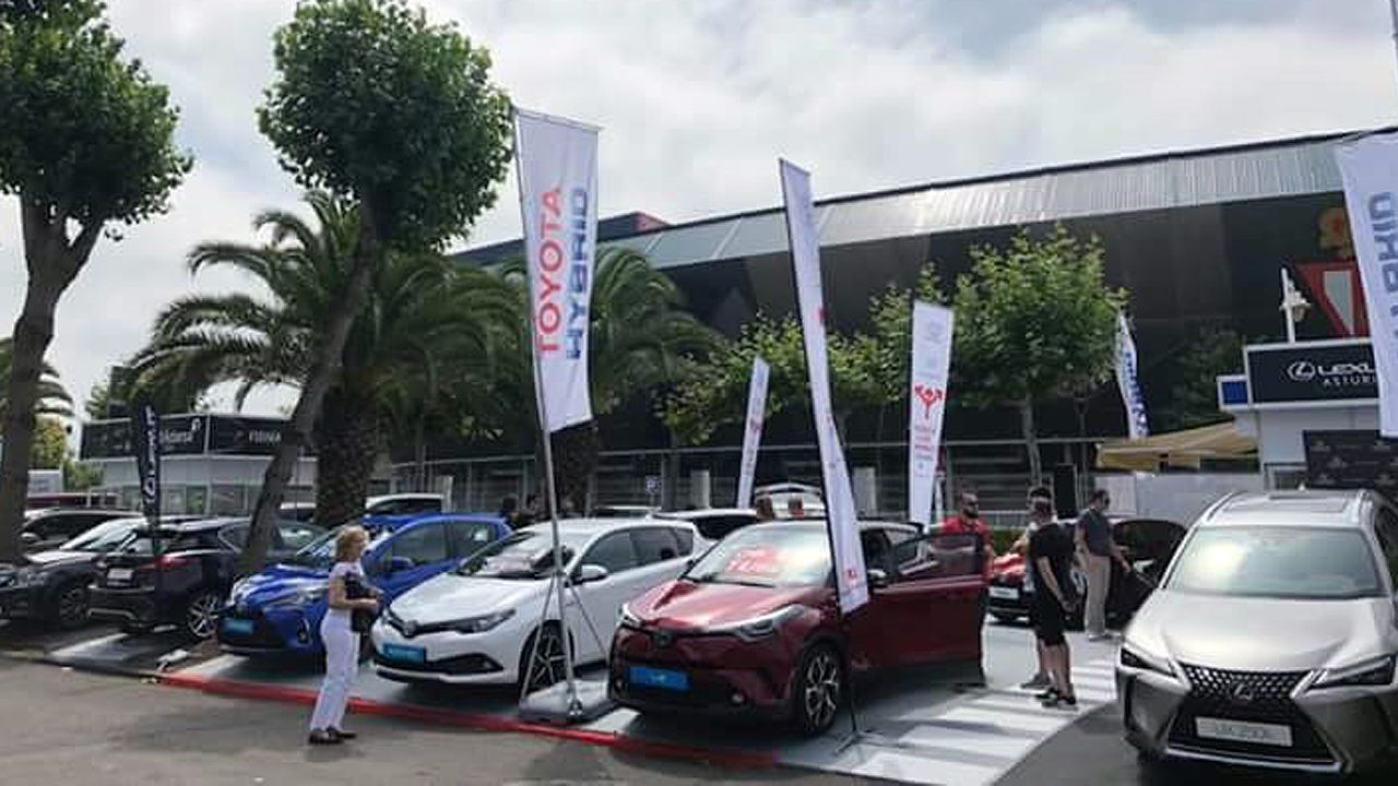 Toyota se luce en la Feria de Muestras.Teresa Ribera