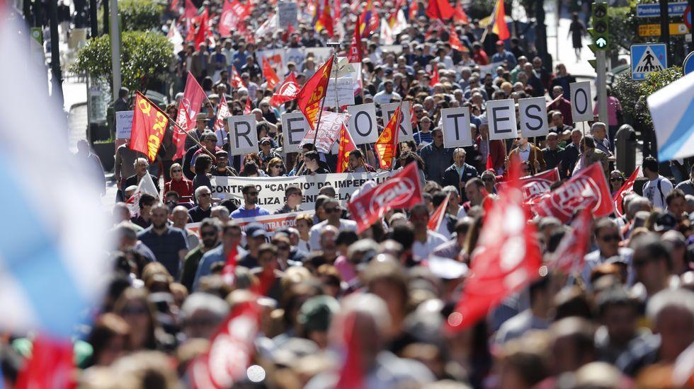 Las manifestaciones del 1 de mayo.Adriana Lastra.
