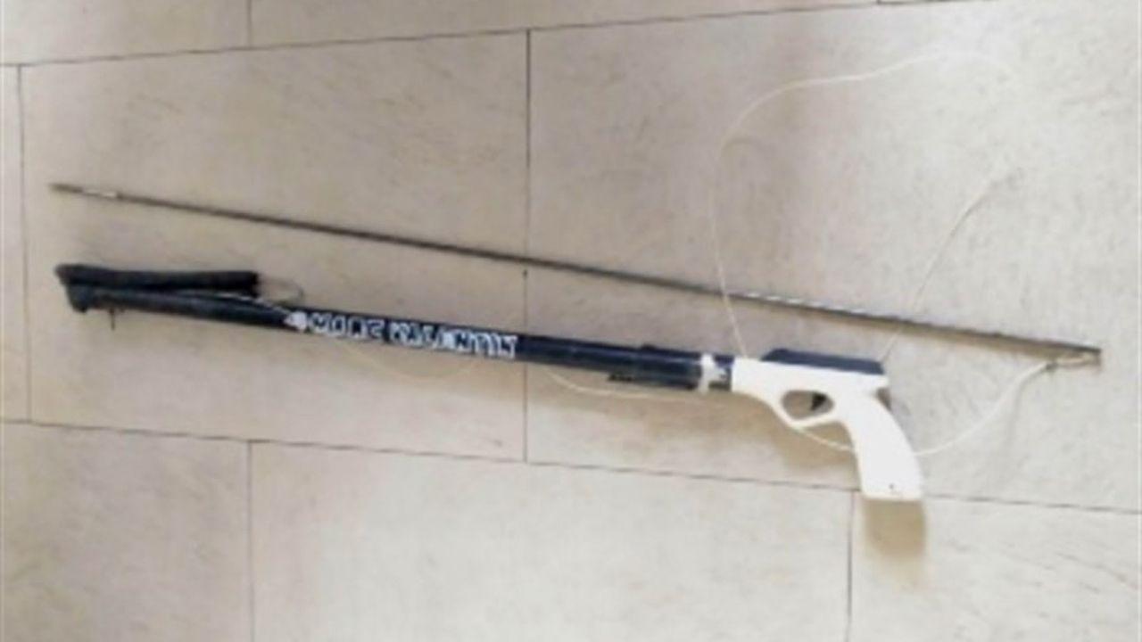 .Fusil de pesca submarina retirado en el Xiringüelu