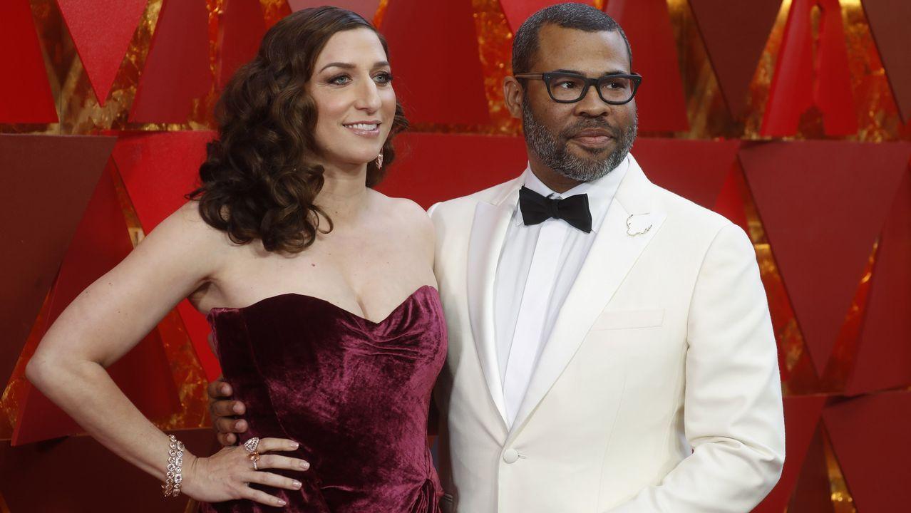 .El director Jordan Peele y la actriz Chelsea Peretti