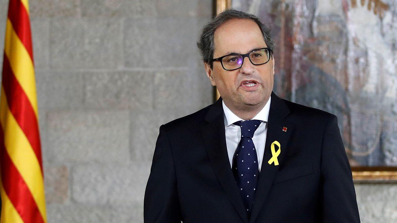 Torra: «Cataluña está esperando a sus políticos honorables».