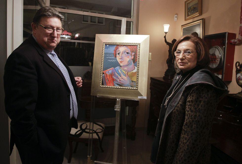 Marta Pardo de Vera inauguró una exposición en el espacio Víctor Rial anticuarios bajo el título de «Territorio del arte».