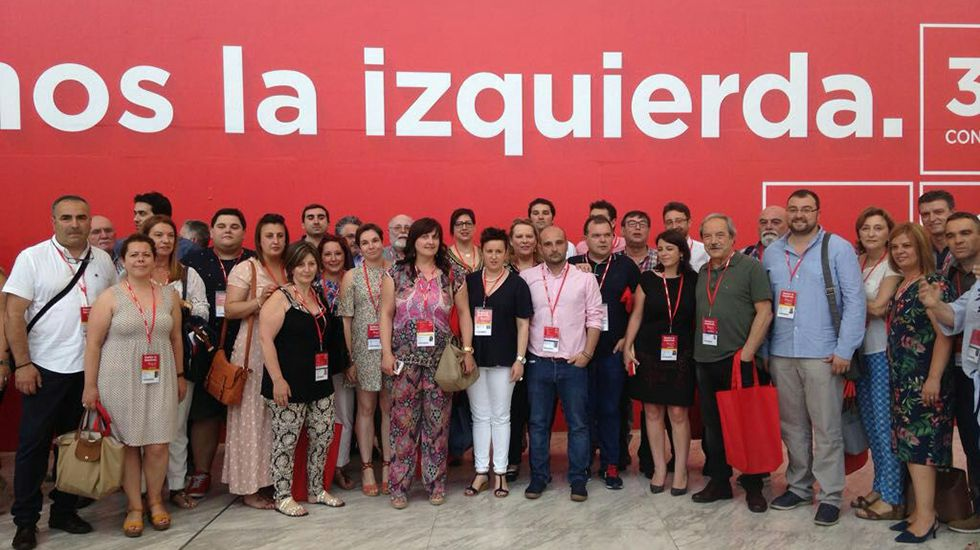Los equipos de Adrián Barbón y José María Pérez presentan los avales en la FSA.Delegación de la FSA en el congreso del PSOE
