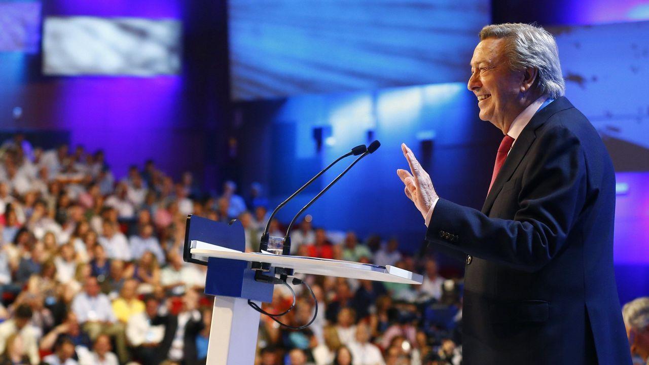 El presidente de la Comisión Organizadora, Luis de Grandes, durante su intervención en la celebración del Congreso Nacional del Partido Popular
