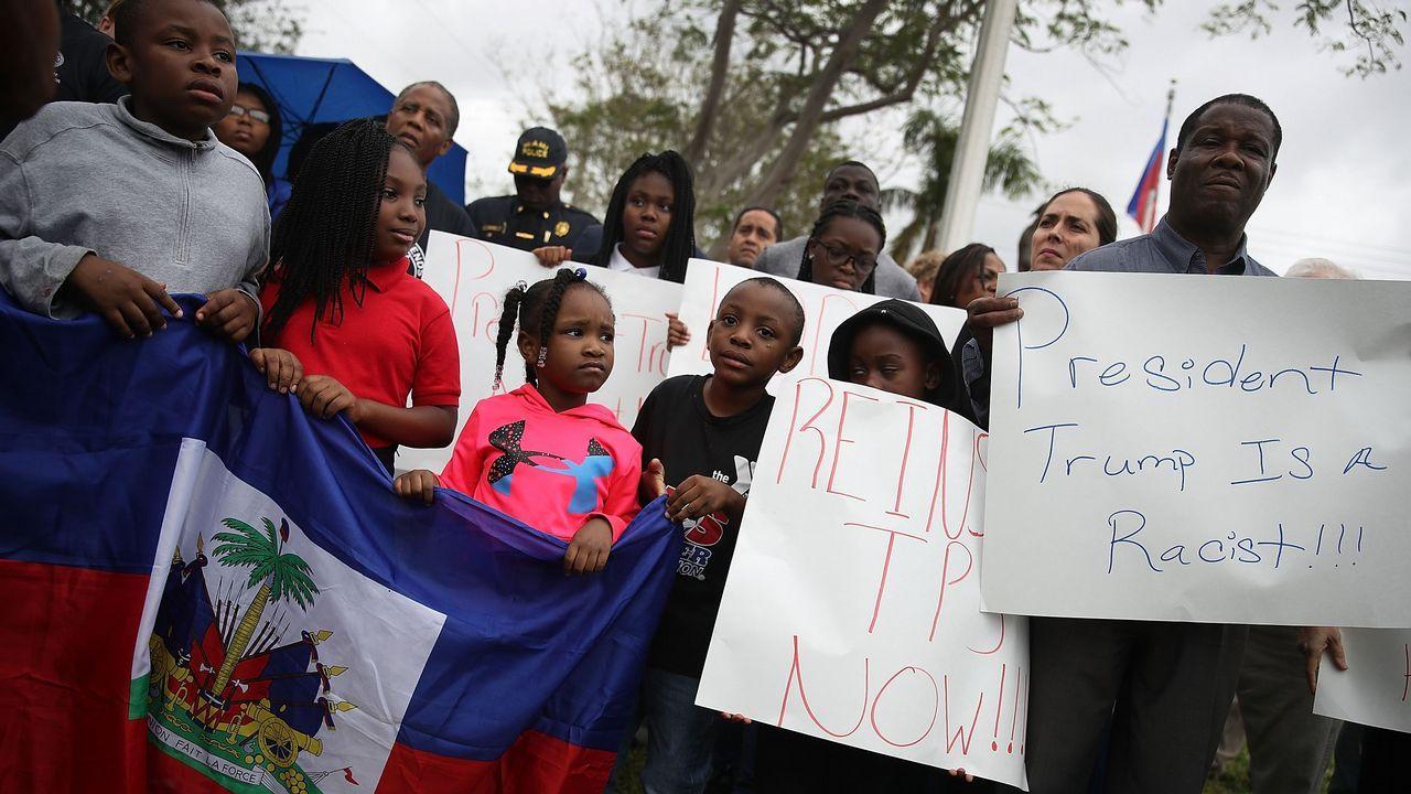 .Protestas contra las declaraciones racistas de Trump