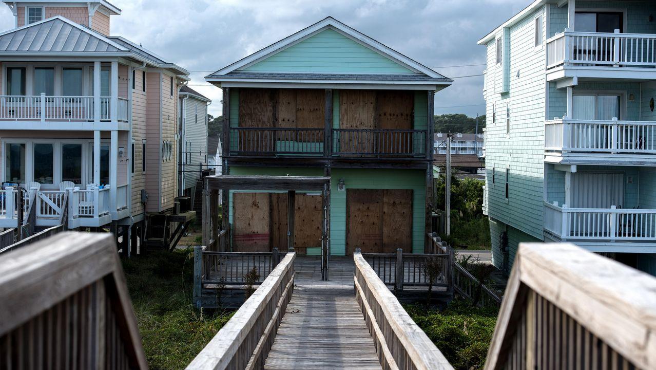 .Una casa vacía después de que la familia fuera evacuada