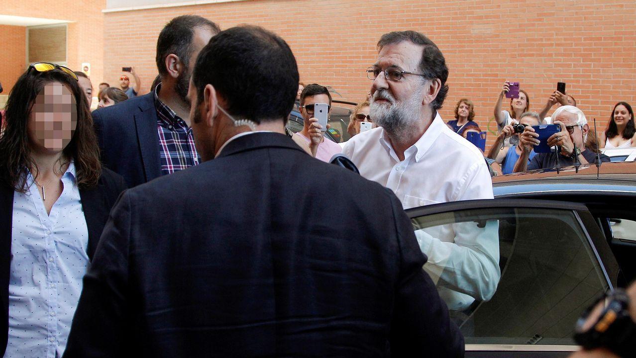 Rajoy vuelve al trabajo: «Ahora me dedico a mi profesión».En la imagen se observan los avances de la infraestructura que tiene que estar terminada en un año