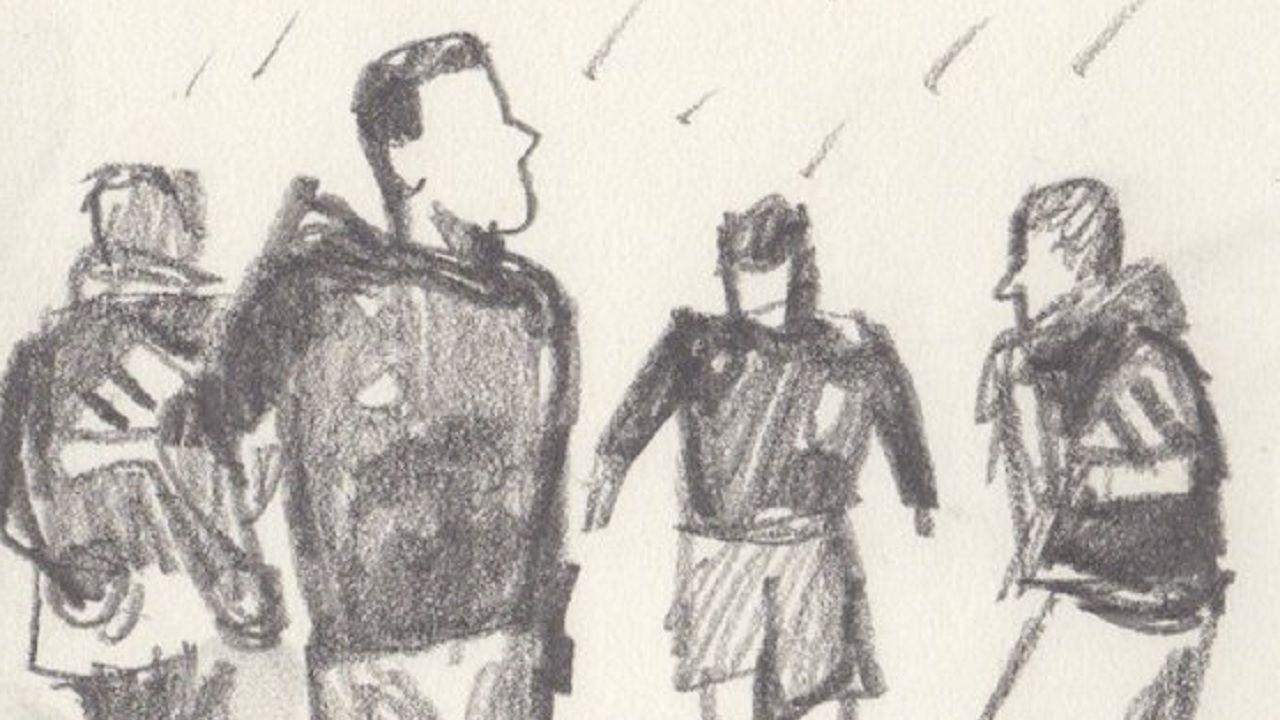 Alfonso Zapico dibujo Real Oviedo.Dibujo de Alfonso Zapico en el que representa un entrenamiento del Real Oviedo