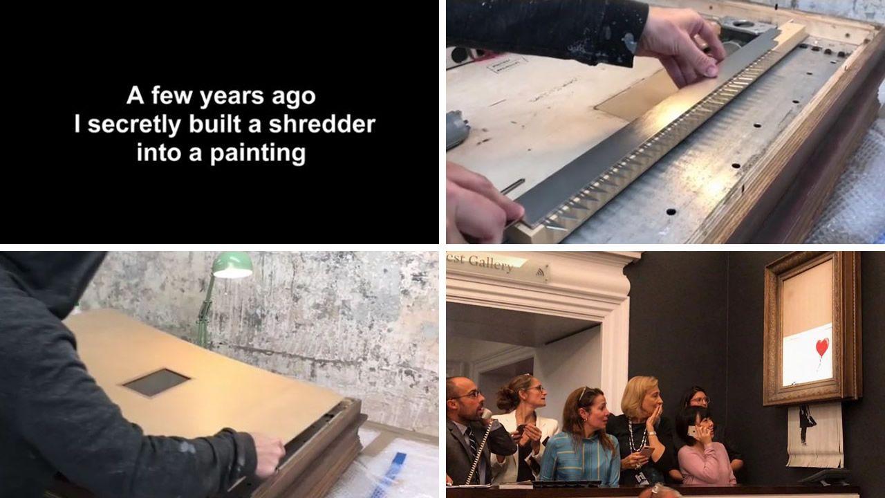 ¿Cómo se autodestruyó la obra de Banksy?