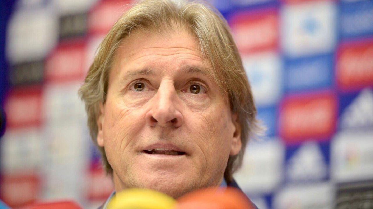 Sergio Egea en la sala de prensa del Carlos Tartiere