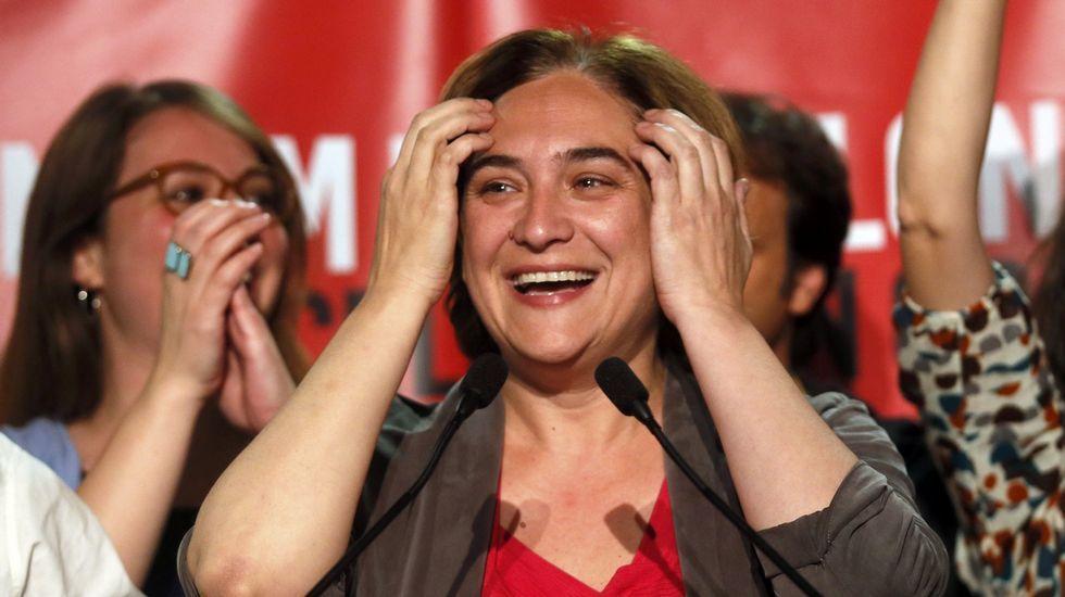 Ada Colau: «Sí se podía».La presidenta de Foro, Cristina Coto, en un momento de la sesión parlamentaria