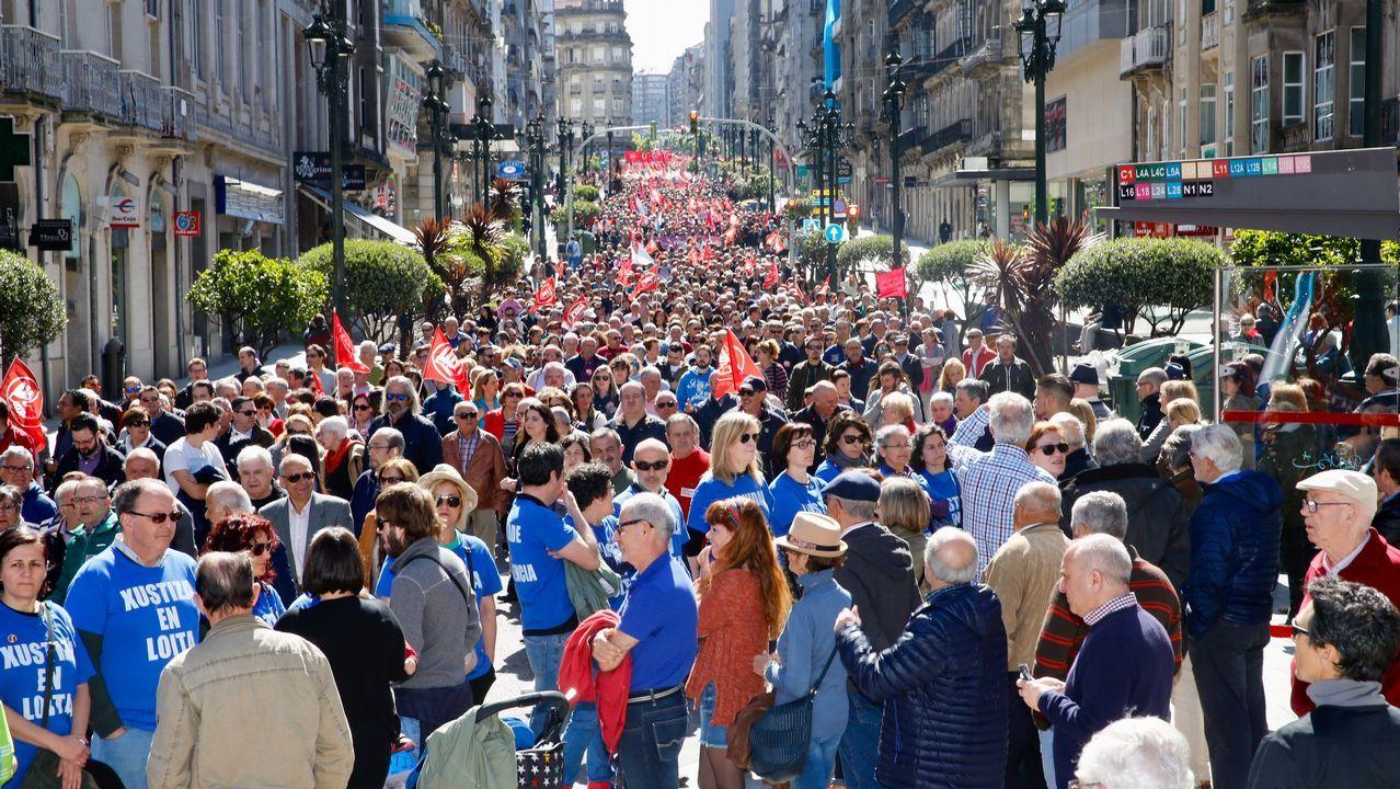 .Dia del Trabajo. Manifestación por el 1 de Mayo en Vigo
