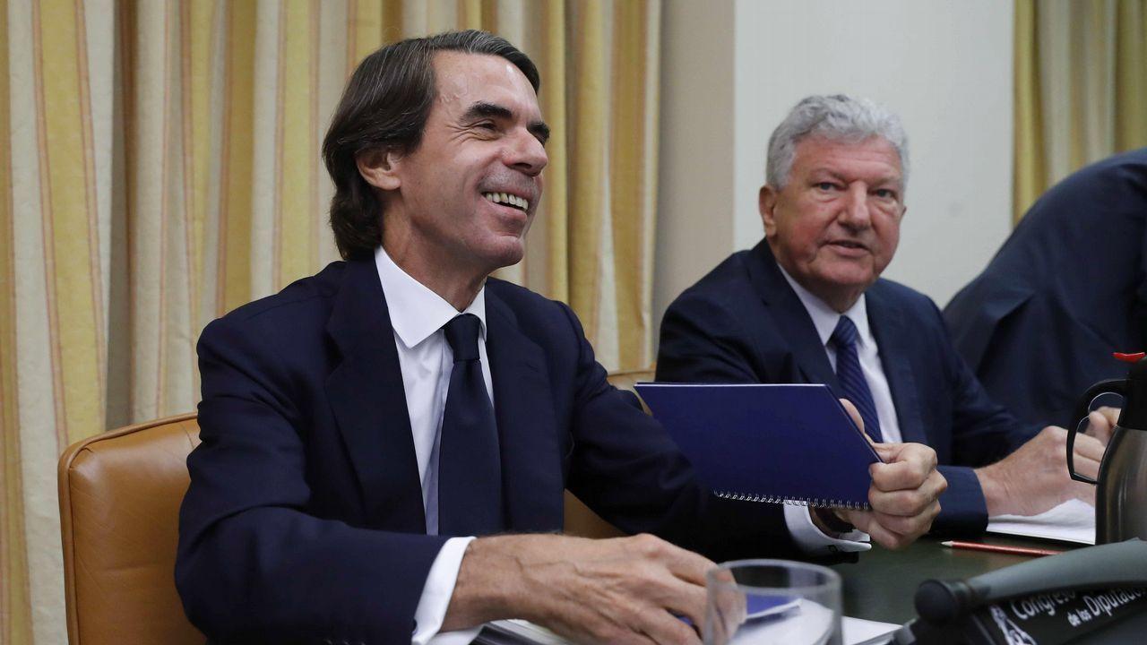Los magistrados José Ricardo de Prada y Angela Murillo .José Maria Aznar