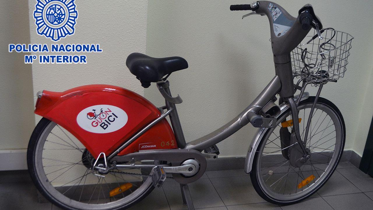 Bicis municipal de Gijón sustraída que se utilizaba para robar en coches