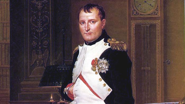 «Retrato del emperador Napoleón en su despacho de las Tullerías» (1812). Jacques-Louis David. Galería Nacional de Arte. Washington