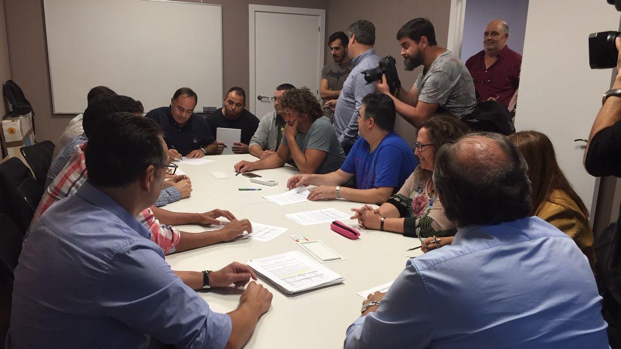 Así fue la movilización de los trabajadores del naval auxiliar de Ferrol.El presidente de Navantia, José Manuel Revuelta, en un viaje a Riad en el 2017