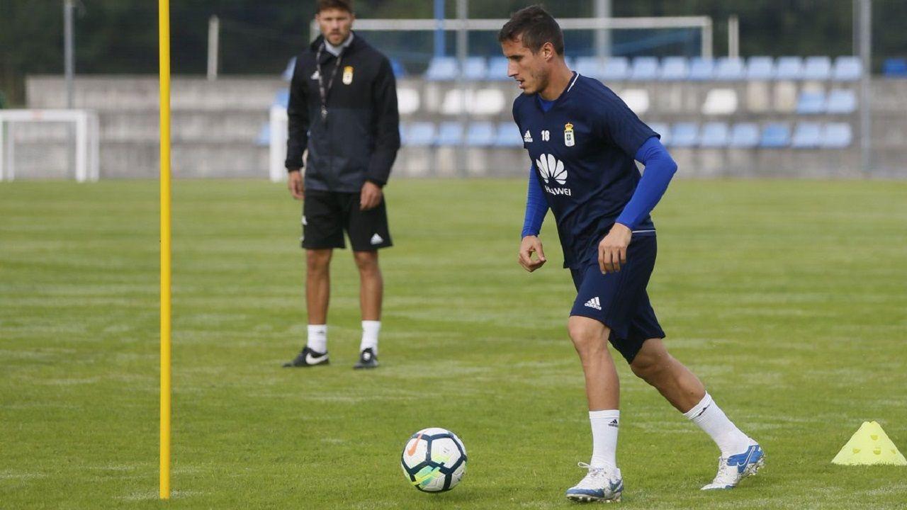Christian Fernández en un entrenamiento