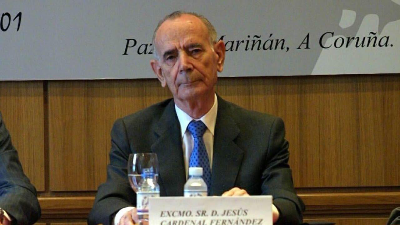 .Imagen de Jesús Cardenal en A Coruña en 2002