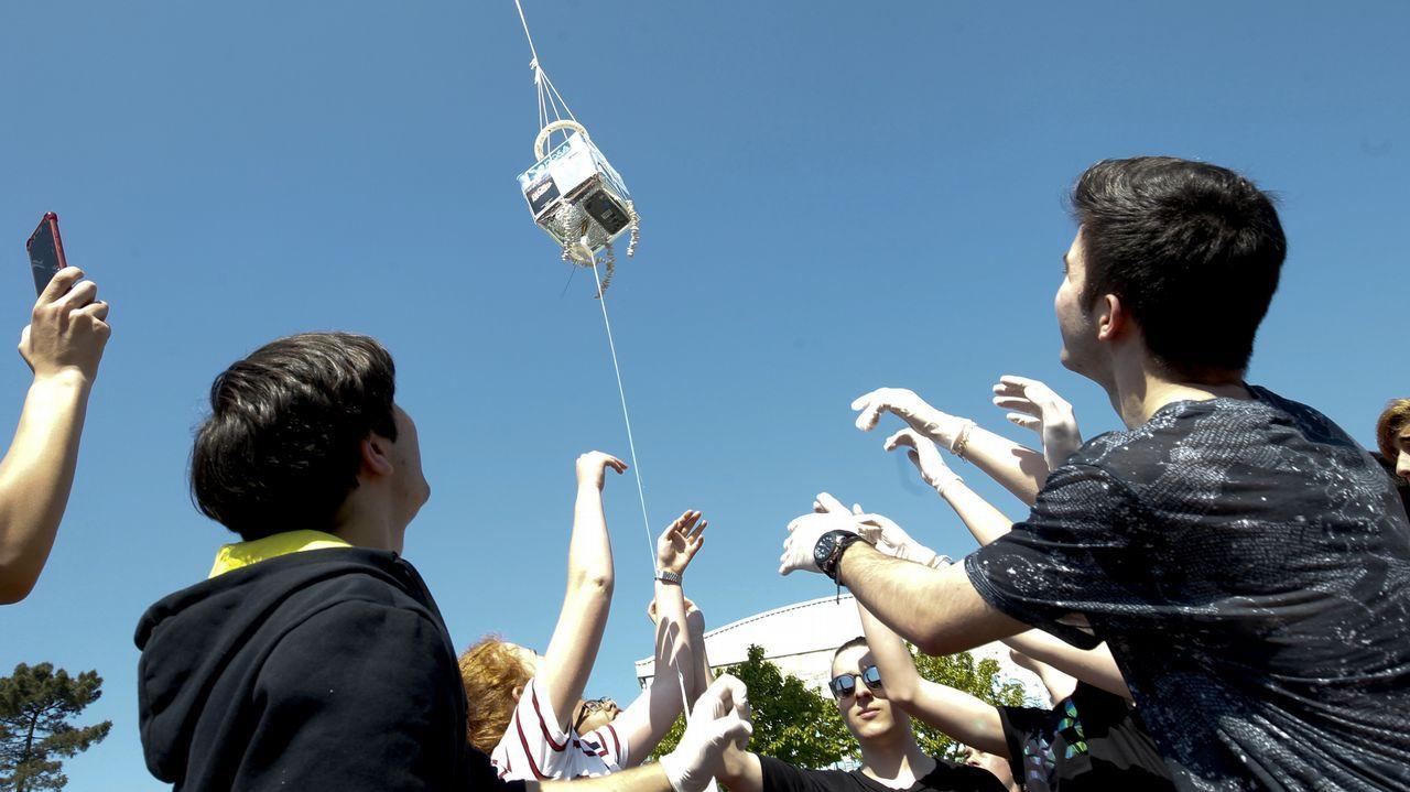 Los alumnos de la NOSA investigan si es posible crear vida en la estratosfera.